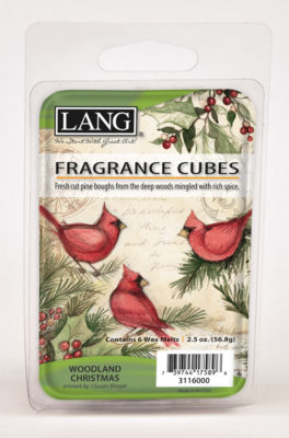 LANG Woodland Christmas 2.5 Oz Fragrance Cubes