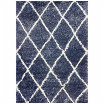 nuLoom Diamond Shag Machine Made Area Rug
