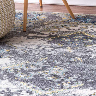 nuLoom Distressed Diamond Medallion Delena Rug