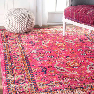 nuLoom Distressed Floral Anabel Rug