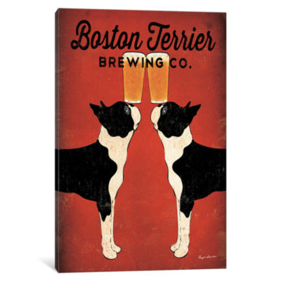 Icanvas Boston Terrier Brewing Co. Canvas Art