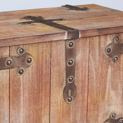 Household Essentials Large Victorian Storage Trunk