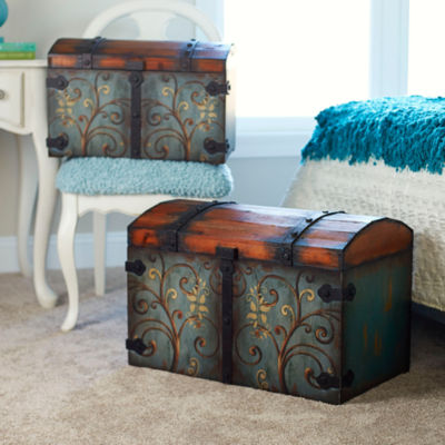 Household Essentials Small Domed Vintage Storage Chest