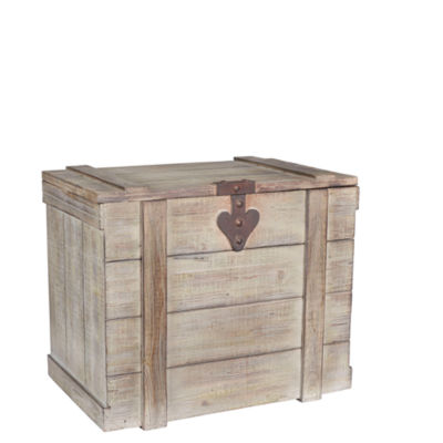 Household Essentials Large Wooden Home Chest