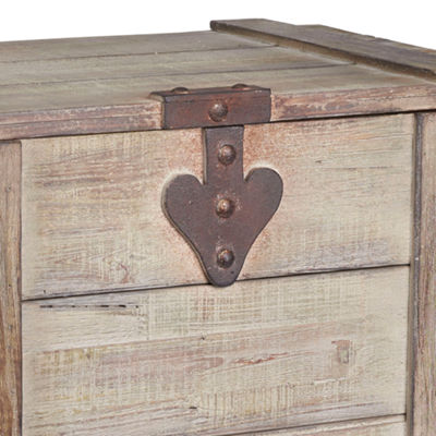 Household Essentials Medium Wooden Home Chest