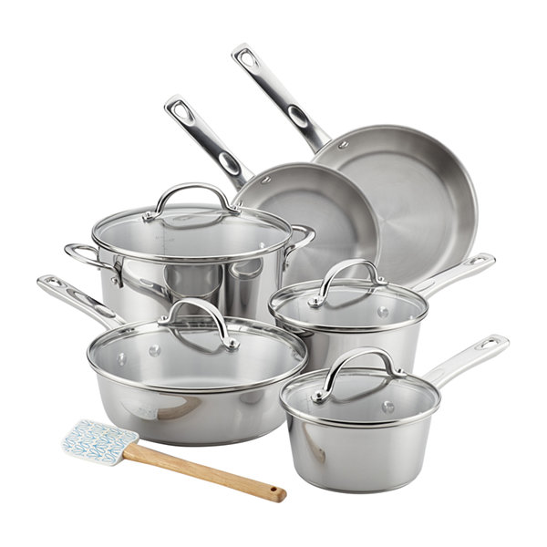 Ayesha Curry™ Home Collection 11-pc. Stainless Steel Cookware Set