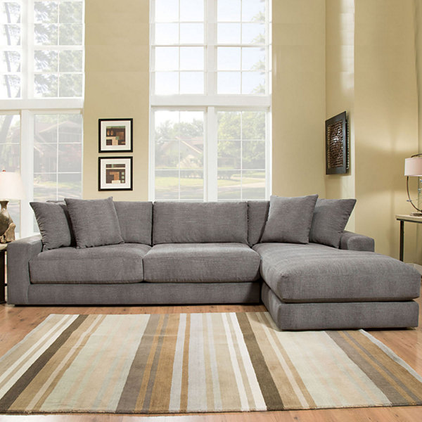 Fabric Possibilities Ponderosa Quick Ship 2-Piece Left Arm Facing Chaise Sectional