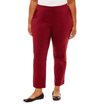 Ankle Pant with Ruffle Pockets - Plus