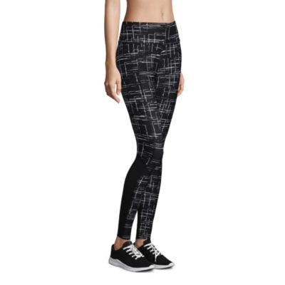 Xersion Printed Leggings with Mesh Insets