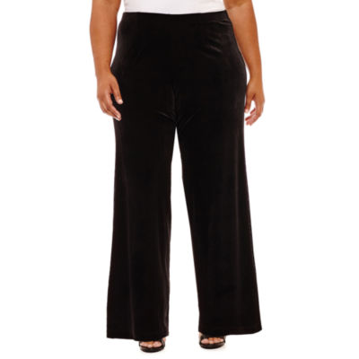 Alyx Velvet Flat Front Pants - Plus