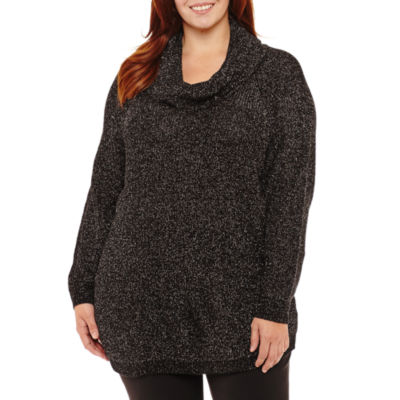 Alyx Long Sleeve Cowl Neck Pullover Sweater-Plus