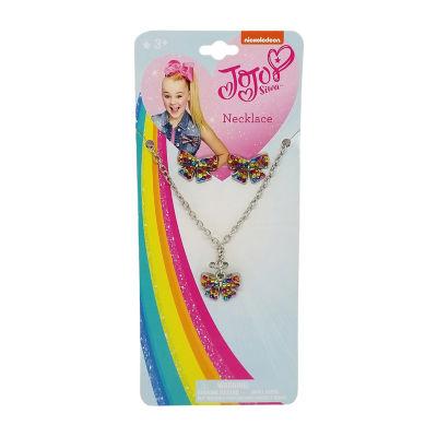 JoJo Siwa Charm Bow Necklace Earring Set