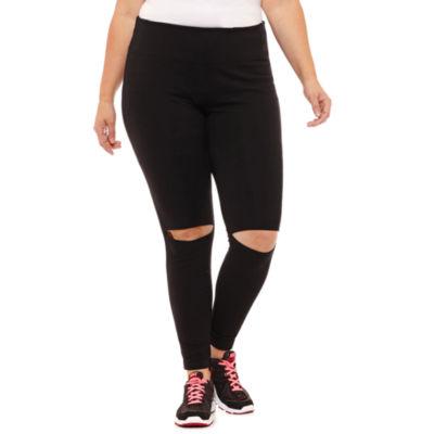 Xersion Slit Knee Knit Leggings-Plus