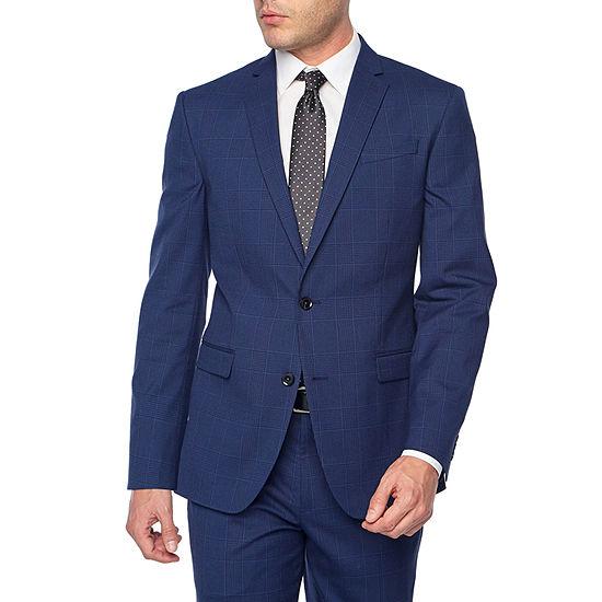 JF J.Ferrar Plaid Classic Fit Stretch Suit Jacket