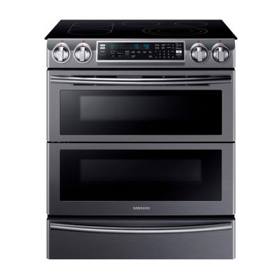 Samsung 5.8 cu. ft. Smart Wi-Fi Enabled Flex Duo™ With Dual Door Slide-In Double Oven Electric Range