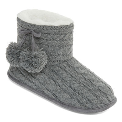 Pj Couture Cable Knit Booties Slippers