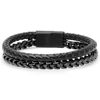 Minoxia Stainless Steel 8 Inch Semisolid Wheat Chain Bracelet