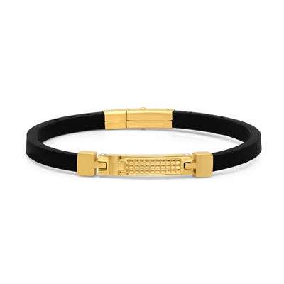 Minoxia 18K Gold Over Stainless Steel 8 1/2 Inch Link Bracelet