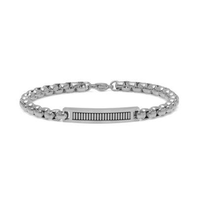 Minoxia Stainless Steel 8 Inch Link ID Bracelet