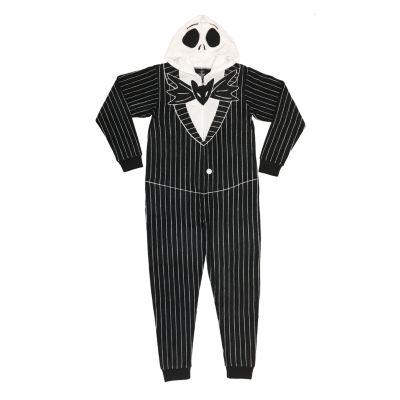 Disney Licensed Union Suit Mens Fleece One Piece Pajama Long Sleeve Nightmare Before Christmas