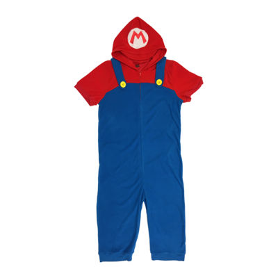 Nintendo Mens Fleece One Piece Pajama Short Sleeve