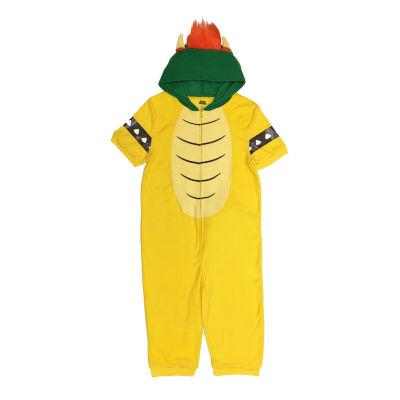 Nintendo Mens Fleece One Piece Pajama Short Sleeve