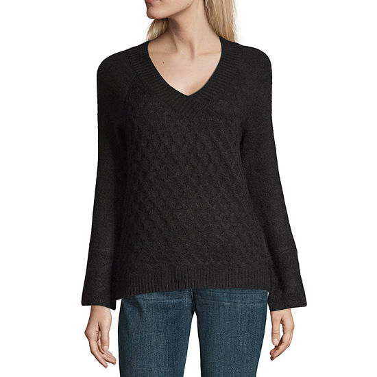 Liz Claiborne Long Sleeve Crew Neck Pullover Sweater Jcpenney