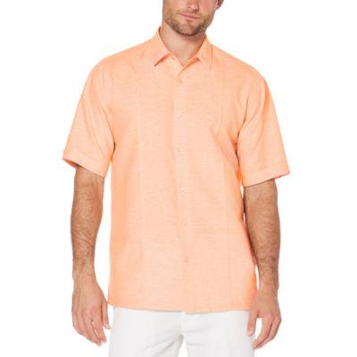 Cubavera Mens Short Sleeve Button-Front Shirt