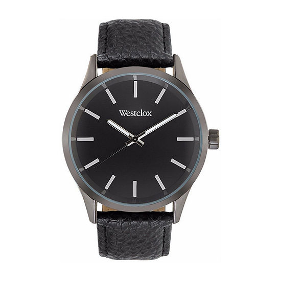 Westclox Mens Black Strap Watch-51001