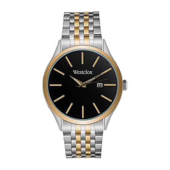 Westclox Mens Two Tone Bracelet Watch-51003
