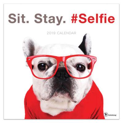 Tf Publishing 2019 Sit. Stay. #Selfie. Wall Calendar