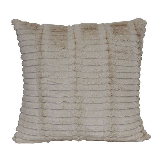 Cut Faux Fur Decorative Pillow