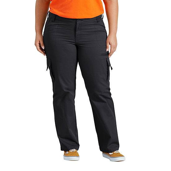 Dickies Womens Mid Rise Straight Cargo Pant-Plus