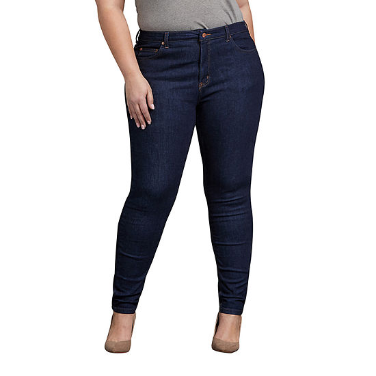 Dickies - Plus Womens Mid Rise Skinny Fit Jean