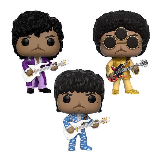 Funko Pop! Rocks Prince Collectors Set - Prince Purple Rain Prince Around The World In A Day Prince 3rd Eye Girl