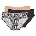 Real 3 Pair Knit Hipster Panty 53423c