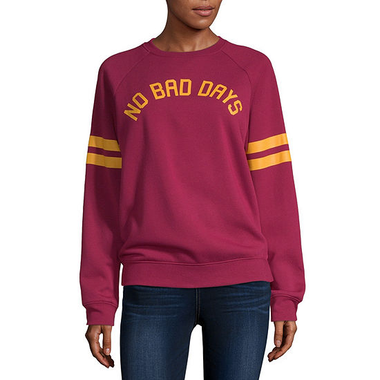Mighty Fine Juniors Womens Crew Neck Long Sleeve Sweatshirt