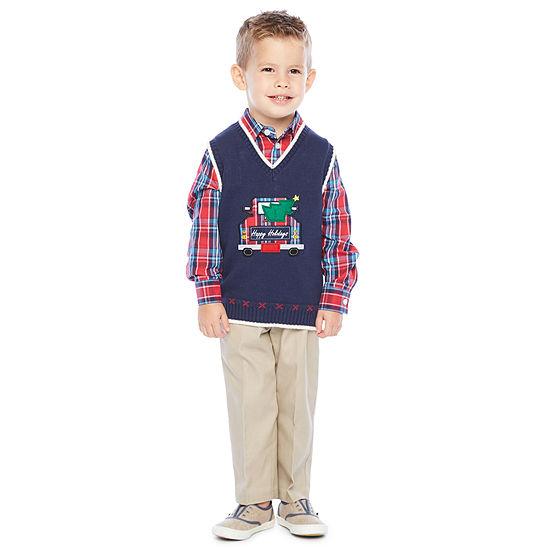 IZOD 3-pc. Sweater Vest Toddler Boys
