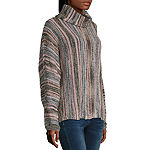 Artesia Womens Cowl Neck Long Sleeve Striped Pullover Sweater