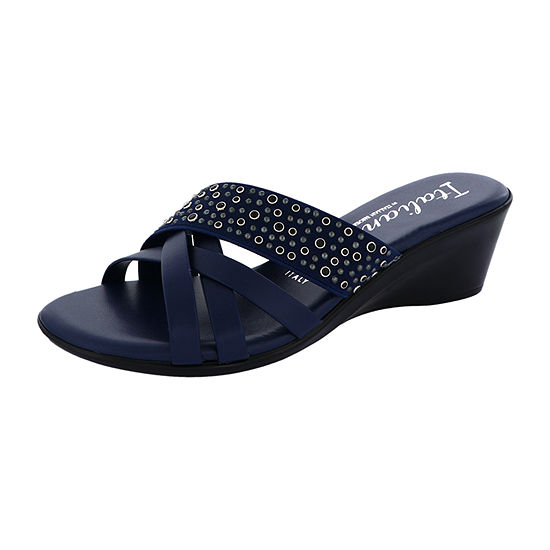 Italiana By Italian Shoemakers Womens Flair Wedge Sandals