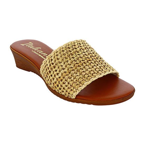 Italiana By Italian Shoemakers Womens Annamae Wedge Sandals