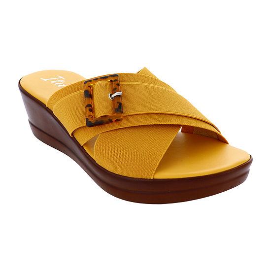 Italiana By Italian Shoemakers Womens Delaney Wedge Sandals
