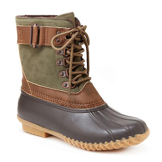 J Sport By Jambu Womens Calgary Rain Boots Water Resistant Flat Heel