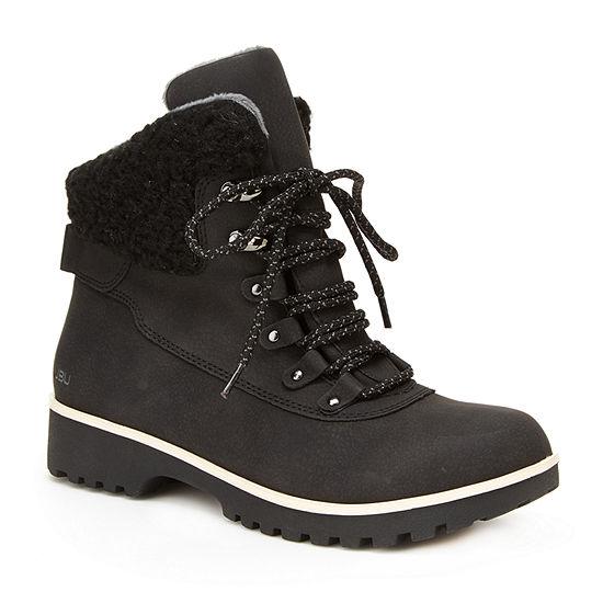 J Sport By Jambu Womens Redrock Lace Up Boots Flat Heel