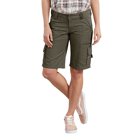 "Dickies Womens Mid Rise Stretch 11"" Cargo Short"