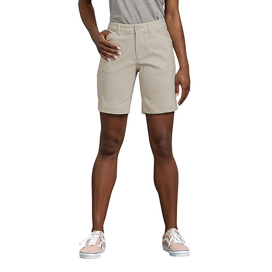 "Dickies Womens Stretch Moisture Wicking 9"" Bermuda Short"