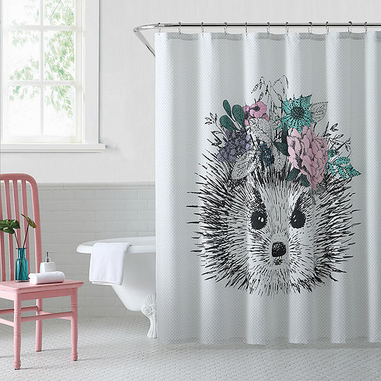 Oh Hello Hedgehog Shower Curtain