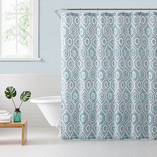 Freshee Dotted Geo Shower Curtain