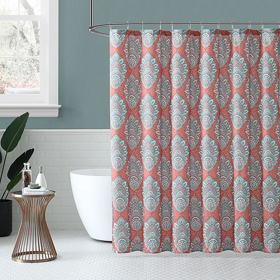 Peach And Oak  Zaria Shower Curtain