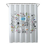Oh Hello Doodle Shower Curtain